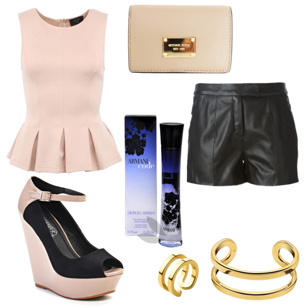 Elegance with leather