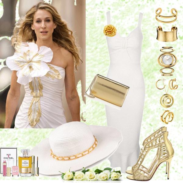 Elegantní zlatobílá