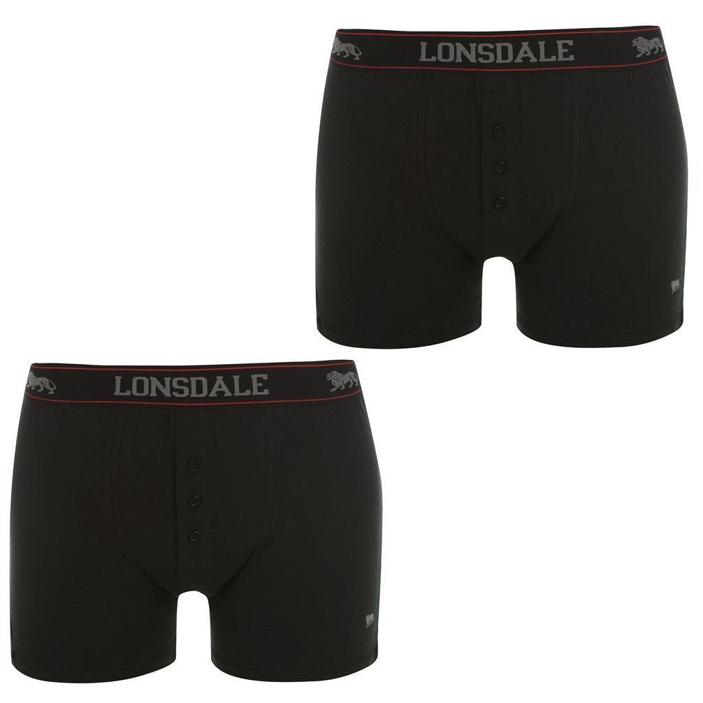 Boxerky Lonsdale 2 Pack Black - Glami.cz fad7960a7d