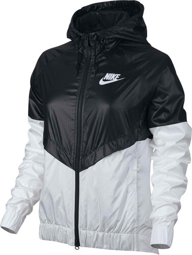 Dámská bunda Nike W NSW WR JKT BLACK WHITE WHITE - Glami.sk 815fbe696a