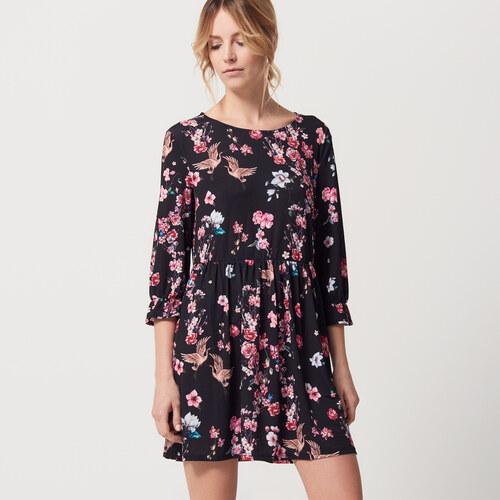 Mohito - Květinové šaty - Černý - Glami.cz d4a5daf0da2