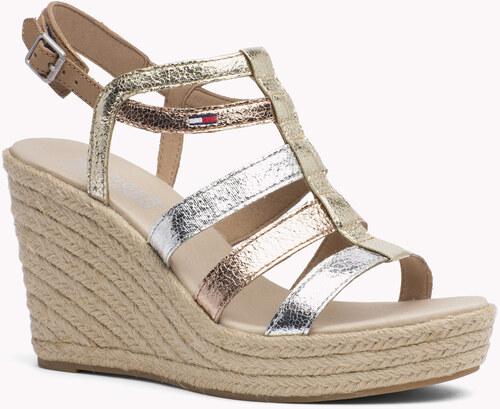 Tommy Hilfiger metalické sandály na klínku Luna 4S - Glami.cz 11a04cca3d