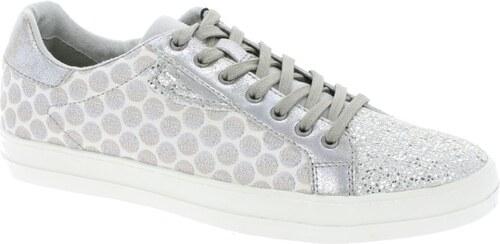 3c4ec48fa46 Tamaris tenisky bílé-stříbrné