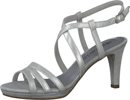 ac71d178093 Tamaris Elegantné dámske remienkové topánky 1-1-28399-38 Silver ...