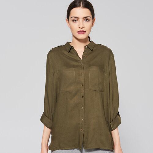 f3605c7eb0 Sinsay - Vojenská košeľa - Zelená - Glami.sk
