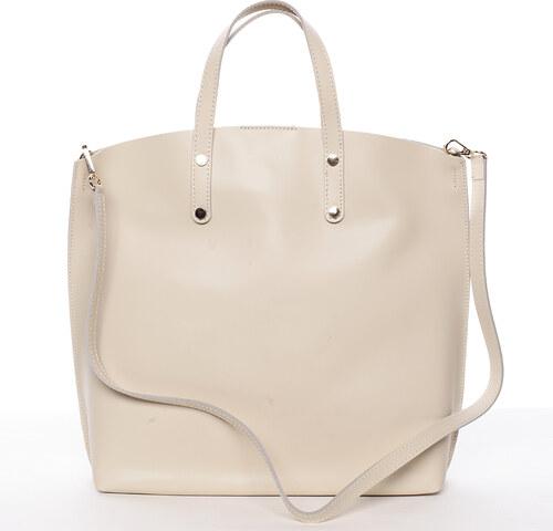 e4ae7349b3 Dámská kožená kabelka do ruky světle béžová - ItalY Sydney béžová ...