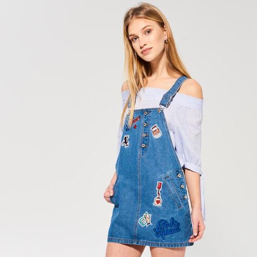 f705be4b759e Sinsay - Džínsové šaty na traky - Modrá - Glami.sk