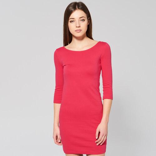 302428c005 Sinsay - Priliehavé úpletové šaty - Ružová - Glami.sk