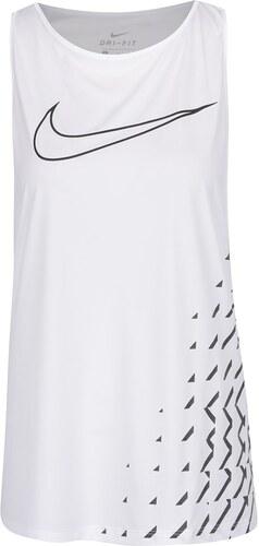570cf1979d52 Biele dámske funkčné tielko s potlačou Nike Breathe - Glami.sk