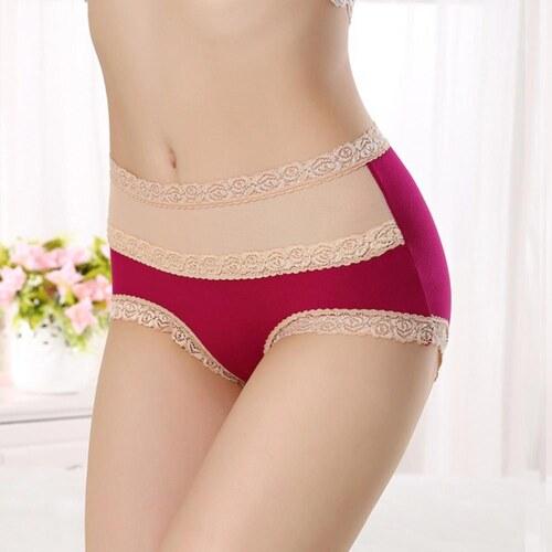 b4d7d551d V&V Dámske bavlnené nohavičky s vysokým pásom (červená farba) - Glami.sk