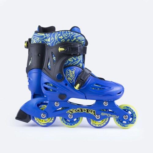 893c6f47abf3 Spokey BUDDY Kolieskové korčule modré ABEC1 Carbon veľ. 30-33 - Glami.sk