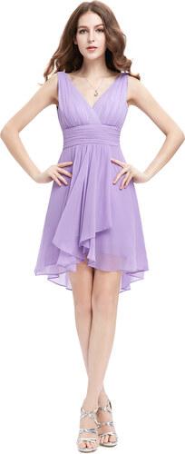 8f95f0da8 Ever Pretty šifonové šaty krátké fialové 3644 S - Glami.cz