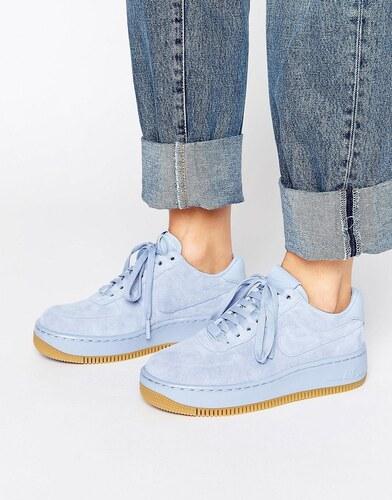 Nike - Air Force 1 Upstep - Baskets en daim de qualité supérieure - Bleu - Bleu