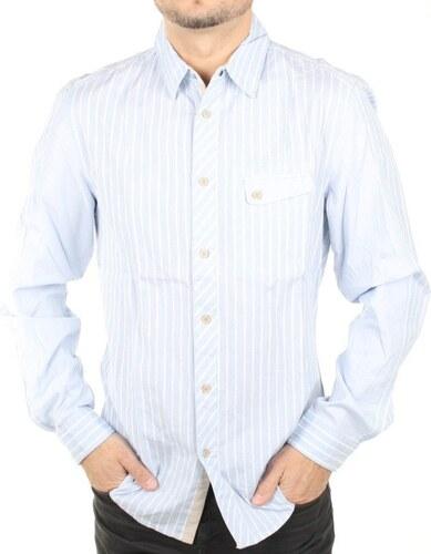 Guess pánská světle modrá košile s proužkem - Glami.cz 82960f1248