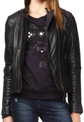 Pepe Jeans dámská kožená bunda Loisse - Glami.cz 5d4f8b84179