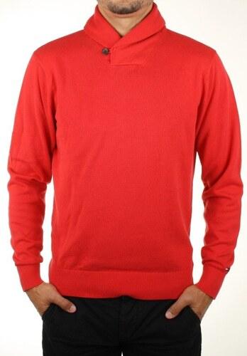 Tommy Hilfiger pánský červený svetr Pacific - Glami.cz 77c6fa82f22