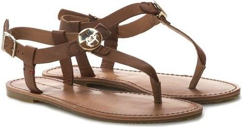 Tommy Hilfiger dámské hnědé sandály Julia - Glami.sk 37f6da99c9