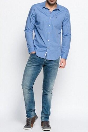 9b6d112edf3 Tommy Hilfiger pánská modrá košile Basic - Glami.cz