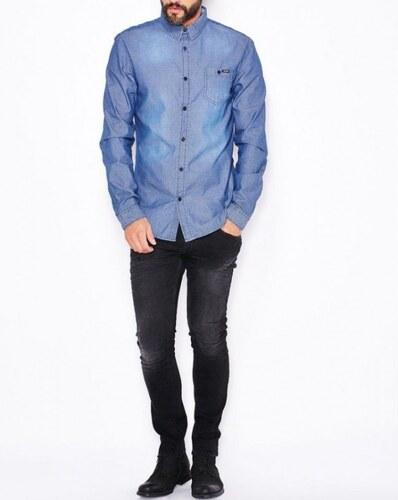 Guess pánská modrá košile - Glami.cz 82375250bb