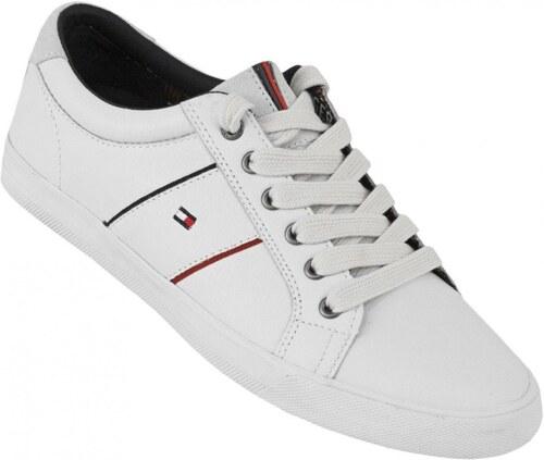 Tommy Hilfiger pánské bílé kožené boty Winston 9A - Glami.cz 215fae28a2
