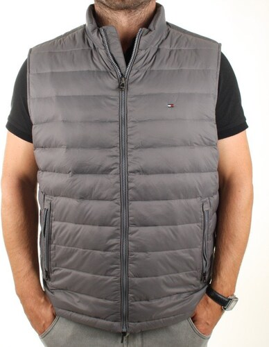 Tommy Hilfiger pánská šedá vesta American - Glami.sk b63c62758a9