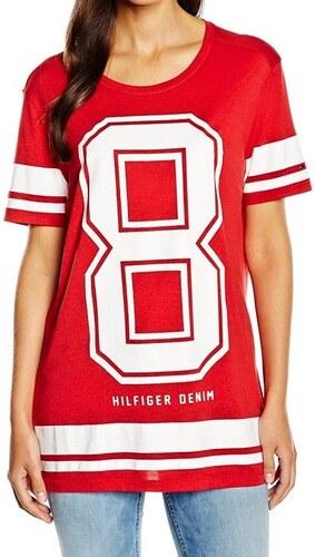 Tommy Hilfiger dámské červené tričko Fine - Glami.sk 92143954ba1