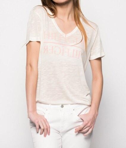 Tommy Hilfiger dámské smetanové tričko Mirrored - Glami.sk 0ae38f4ce3