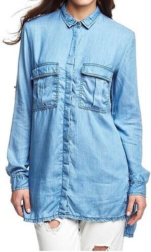 Guess dámská džínová košile - Glami.cz b60ab22f5e