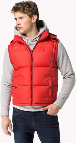 Tommy Hilfiger pánská červená péřová vesta Basic - Glami.cz 557bb5d0e8c