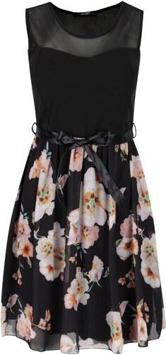 2958ace63fde Haily´s Černé květované šaty se zavazováním Haily s Nell - Glami.cz