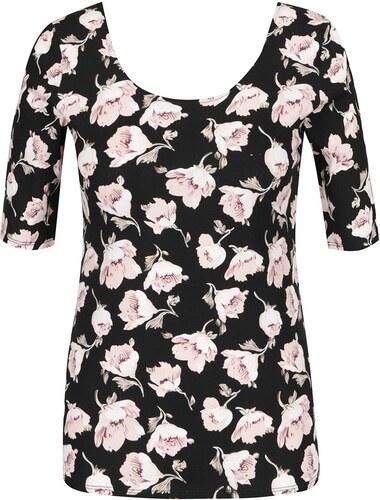 Haily´s Černé tričko s 3 4 rukávem a potiskem květin Haily s Rachel ... d340b084cd