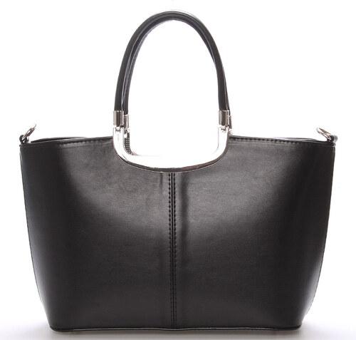 Elegantní černá dámská kabelka do společnosti - Delami Sabrina černá ... 37d663c14a