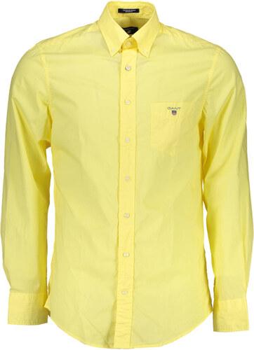 a132f177360 Pánská košile Gant - Žlutá   XL - Glami.cz