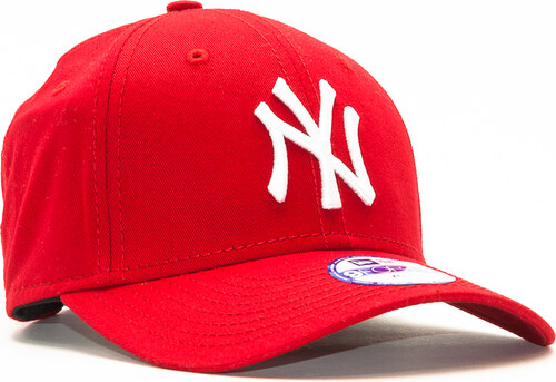 d9d025c19c8 Dětská Kšiltovka New Era League Basic New York Yankees Scarlet White 9FORTY  YOUTH Strapback