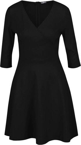 Černé šaty s překládaným výstřihem ZOOT - Glami.cz 420249027b