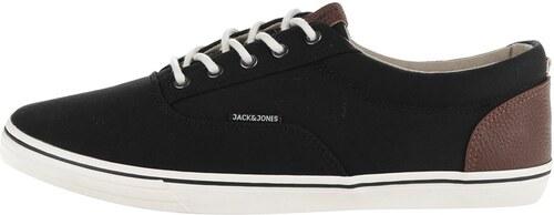 Černé pánské tenisky Jack   Jones Vision - Glami.cz acd19da468