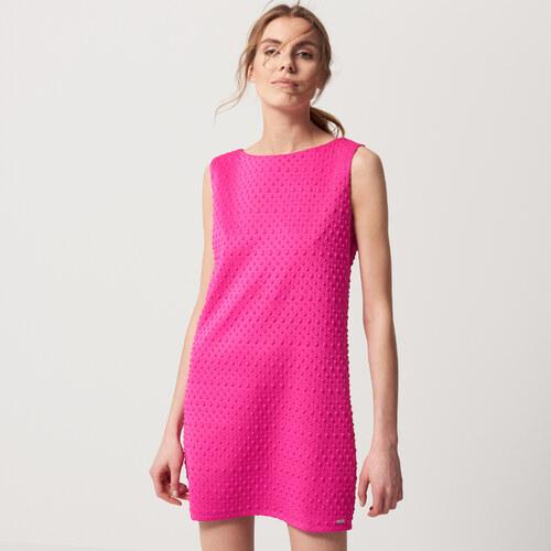 Mohito - Šaty ze žakárového úpletu - Růžová - Glami.cz 8d6970f5343