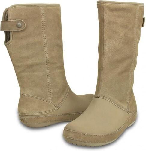 aad36704be Crocs čižmy Berryessa Tall Suede Boot Mushroom - Glami.sk