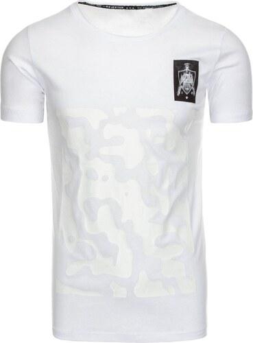 22431cfa5b21 Dstreet Biele pánske tričko s potlačou - Glami.sk