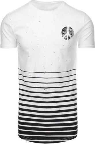 8286dd305 Pánske biele tričko s potlačou - Glami.sk