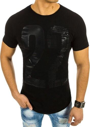 9736889f8c34 Pánske čierne tričko s potlačou - Glami.sk