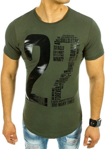 bc99f8ab24a1 Pánske zelené tričko s potlačou - Glami.sk