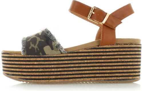 6dcd49402d7b4 Ideal Zelené platformové sandále Hafanana - Glami.sk
