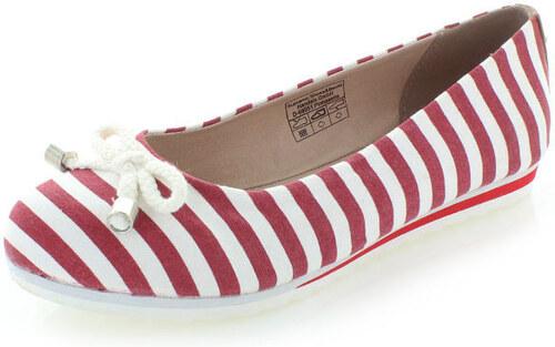 de03aaf93f214 Bielo-červené balerínky Tom Tailor 2790104 - Glami.sk