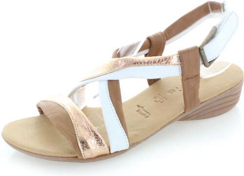 c8d25d562a08 Hnedé kožené sandále Tamaris 28130 - Glami.sk