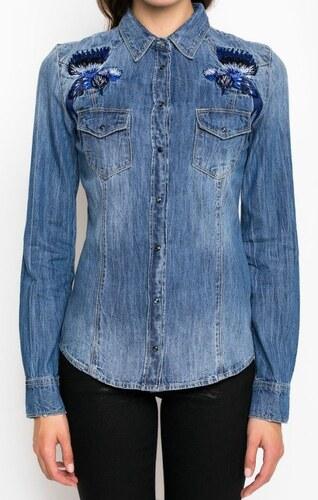 Guess dámská džínová košile - Glami.cz 60297c5e52
