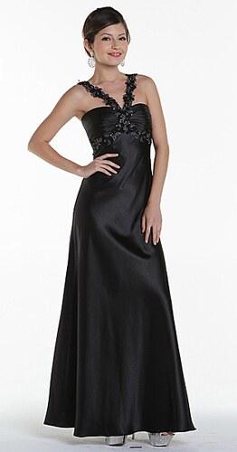 Elegantné čierne dlhé šaty - Glami.sk 5a941a9d118