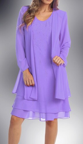 Glamor Dámske lila šaty na svadbu - Glami.sk 78f2c3dd420