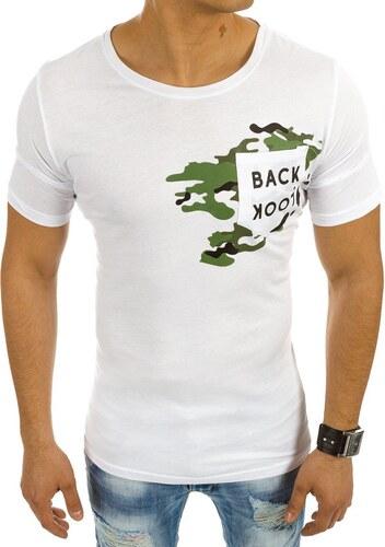 637838f1a Dstreet Pánske biele tričko s textom rbb542026 - Glami.sk