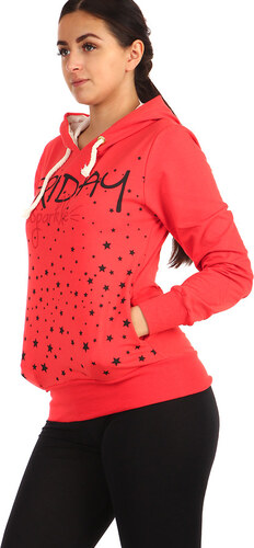 7e9cc698382 TopMode Dámská mikina s potiskem (červená